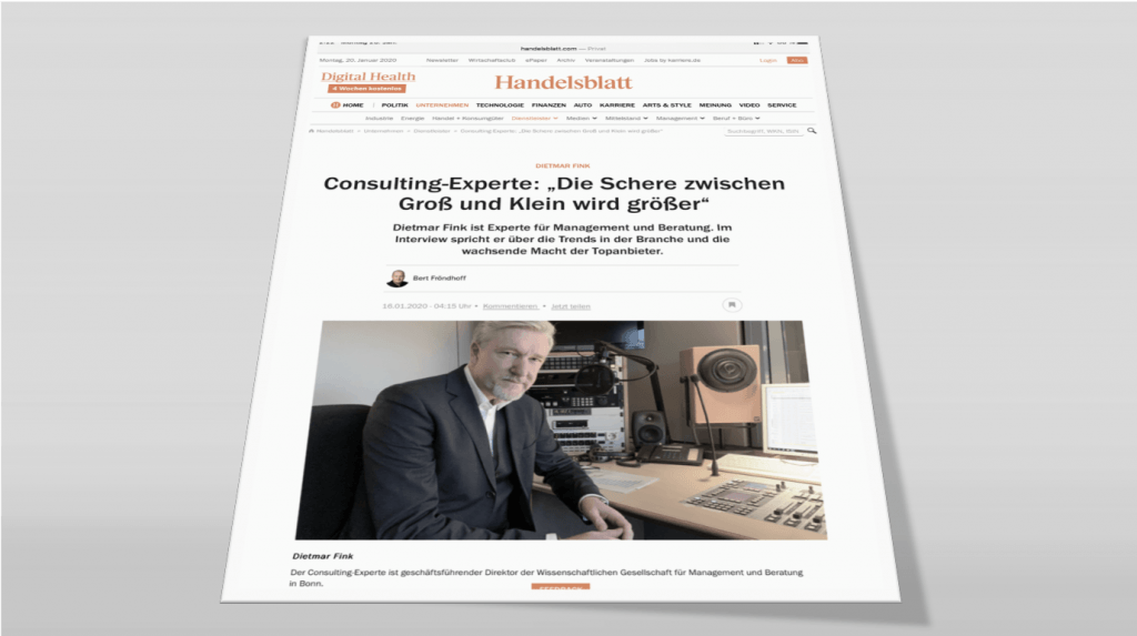 Interview with Handelsblatt